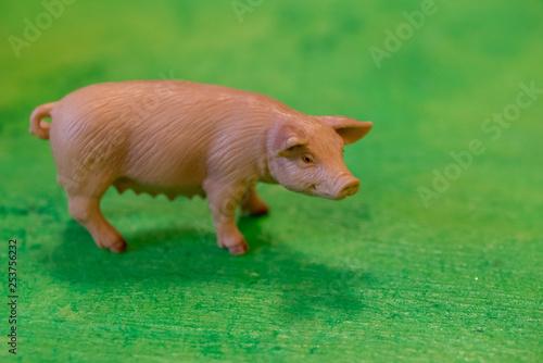 obraz lub plakat plastic toy farm animals in a preschool