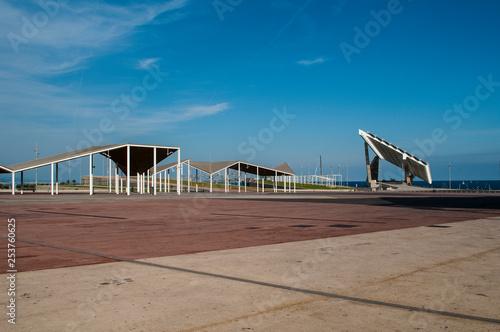 obraz PCV Giant solar panel, Parc del Forum, Barcelona, Catalonia, Spain