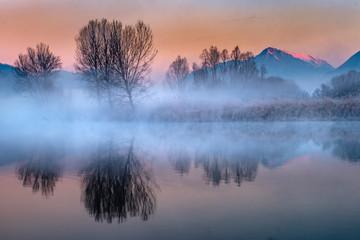 Panorama lungo il fiume Adda © scabrn