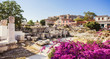 Ancient Greece, panoramic view of ancient street, Plaka district, Athens, Greece