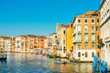VENICE, ITALY - December 21, 2017 : View of water street and old buildings in Venice, ITALY