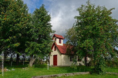 Kapelle Haukadalskirkja, Nähe Geysir, Island