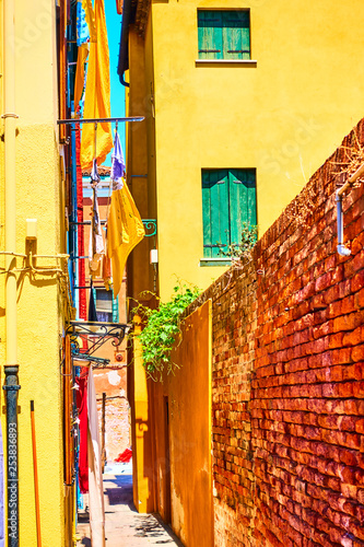 Narrow side street in Burano - 253836893