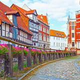 Old street in Quedlinburg