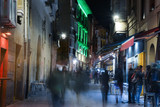 Streets of Vitoria- Gasteiz, at Night, Basque Country, Spain