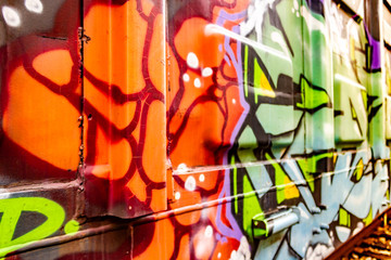 Graffita on boxcar