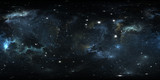 360 degree space nebula panorama, equirectangular projection, environment map. HDRI spherical panorama. Space background with nebula and stars