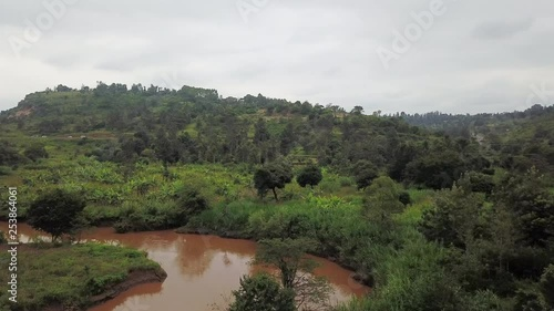 Riverbed in Africa, aerial