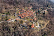 Aerial view of most famous painted village Arcumeggia in province of Varese, Italy - 253867428
