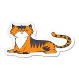 sticker of a cartoon tiger