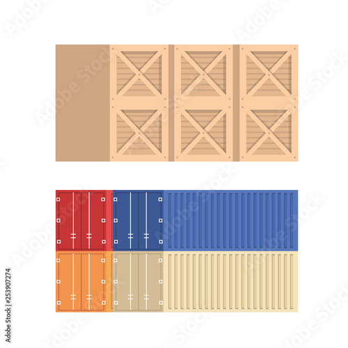 pile containers logistic service