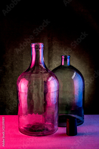 Still life with two glass bottles © i_valentin