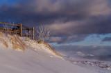 Bieszczady panorama zimowa