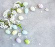 Easter eggs and Spring cherry blossom