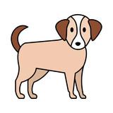 cute little dog mascot
