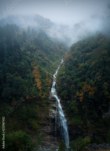 Palovit Waterfall with in the green forest, Rize, Turkey  © murat