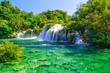 Waterfalls Krka in National Park, Dalmatia, Croatia - 253983076