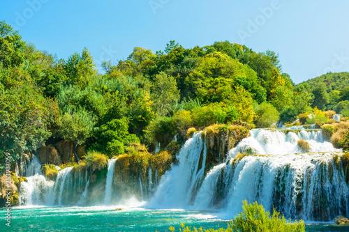 Beautiful Skradinski Buk Waterfall In Krka National Park - Dalmatia Croatia, Europe - 253983059