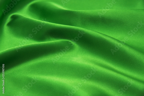 obraz PCV Green satin fabric as background