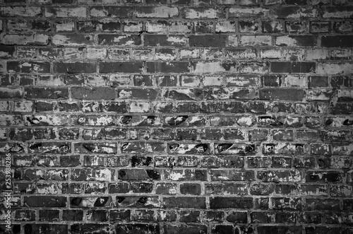 grunge brick wall background - 253988286