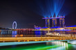 Leinwanddruck Bild - Spectra Light and Water Show Marina Bay Sand Casino Hotel Downtown Singapore