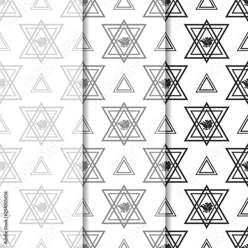 obraz PCV triangle and rose seamless geometric abstract pattern