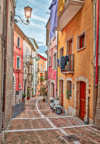 narrow street in old town - 254010854
