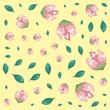 beautiful flowers decorative pattern - 254035275