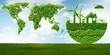 Leinwandbild Motiv Ecological concept of clean energy - 3d rendering