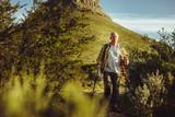 Senior man on an adventurous trek