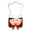Isolated woman chef avatar cartoon. Vector illustration design
