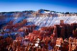Snow rim of Bryce canyon