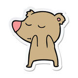sticker of a happy cartoon bear
