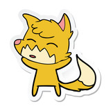sticker of a cartoon fox