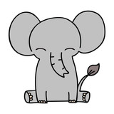 quirky hand drawn cartoon elephant