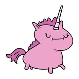 cartoon doodle of a magical unicorn