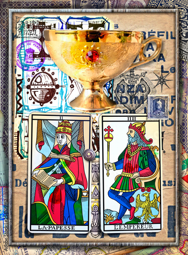 Alchemy and tarot's. Manuscripts, sketches, graffiti and alchemical, astrological, esoteric, ethnical drawings, with symbols, tarots, and chemical and magical formulas