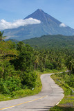 Road way to Mayon volcano,Philippines