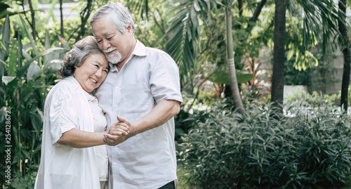 Elderly Couples Dancing together - 254128672