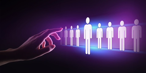 Human Resources, HR management, Recruitment, Talent Wanted, Employment Business Concept.
