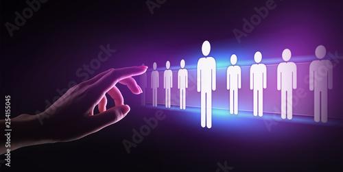 Leinwanddruck Bild Human Resources, HR management, Recruitment, Talent Wanted, Employment Business Concept.