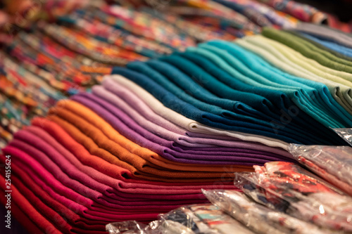 Different colors silk fabric - 254155624