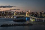 東京の都市夜景 お台場から眺める冬の東京湾岸1