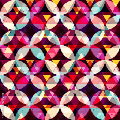 abstract geometric colored seamless background