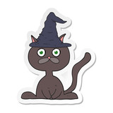 sticker of a cartoon halloween cat