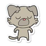 sticker of a cartoon dog
