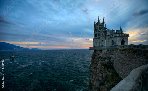 Castle Swallow's Nest at dawn in the Crimea - 254187441