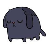 cartoon of cute sad kawaii dog