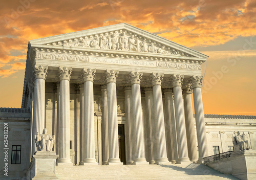 obraz PCV United States Supreme Court Building in Washington DC, USA