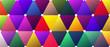 Bright Color Saturated Trendy Triangle BG Design